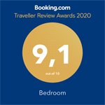 Booking.com 9,1 Traveller Review Awards 2020